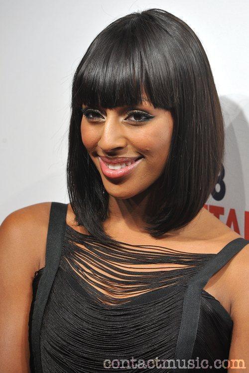 Alexandra Burke Sexy Bob Hairstyle 2011