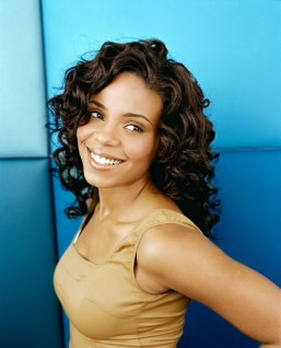 Sanaa Lathan Medium Length Black Curly Hairstyles