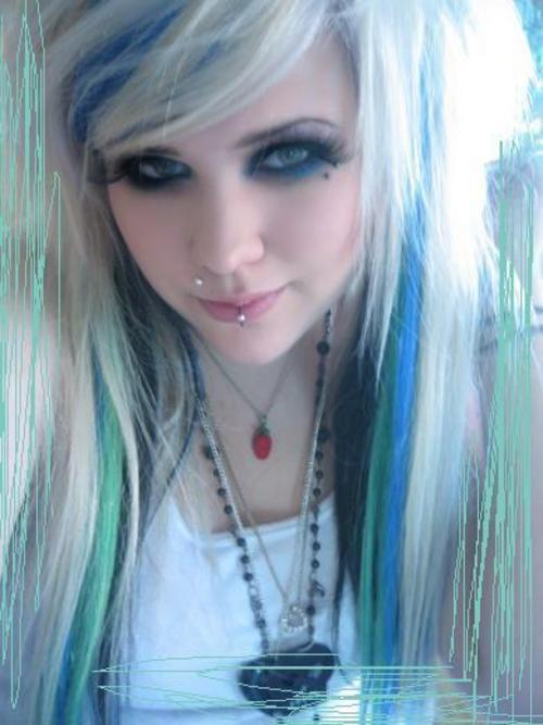 Teen Girl with Blue Hair