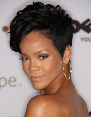 Black Hairstyles 2011 on Black Short Curly Hairstyle 2011 Hairstyle Trend Rihanna Short